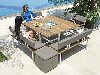 teak gartentisch quadux 140 x 140 cm by zebra teak. Black Bedroom Furniture Sets. Home Design Ideas