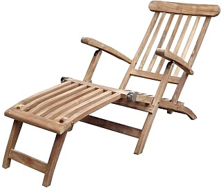 Teak Deckchair Sylt by BEHO